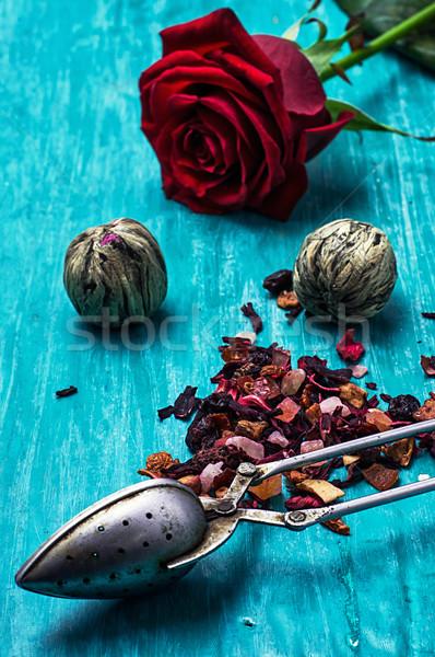 leaves of the tea brewing Stock photo © nikolaydonetsk