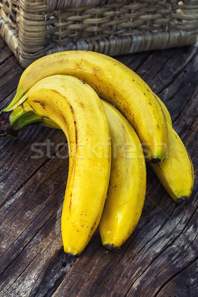 バナナ 香ばしい 木製 食品 ストックフォト © nikolaydonetsk