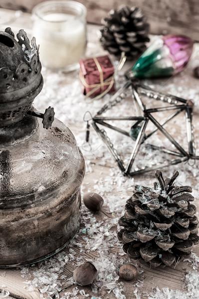 Vintage natal decoração estilo retro Foto stock © nikolaydonetsk