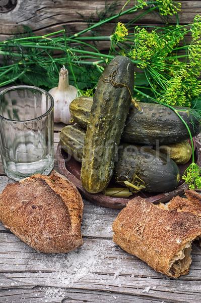 pickled cucumbers Stock photo © nikolaydonetsk