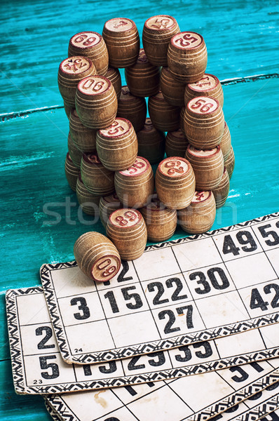 Brettspiel traditionellen Vermächtnis alten Holz Stock foto © nikolaydonetsk