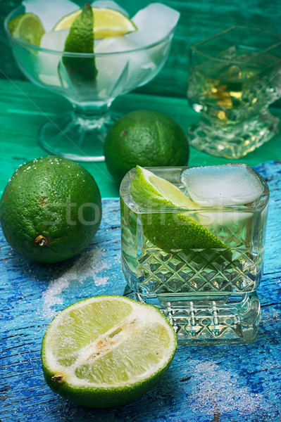 refreshing cocktail made of rum and lime with ice Stock photo © nikolaydonetsk