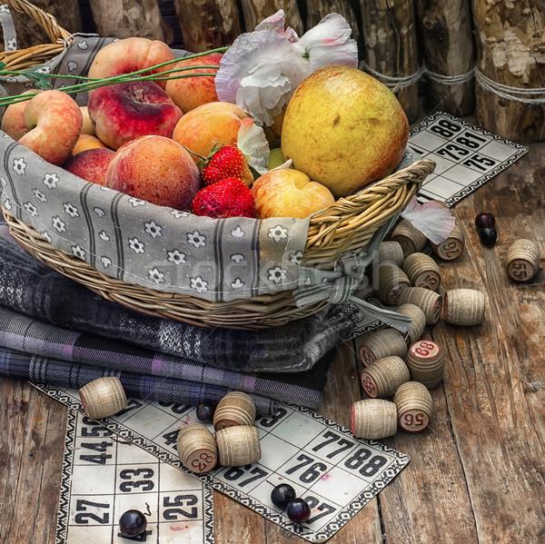 Piquenique conjunto flor natureza Foto stock © nikolaydonetsk