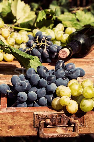 ripe grapes  Stock photo © nikolaydonetsk