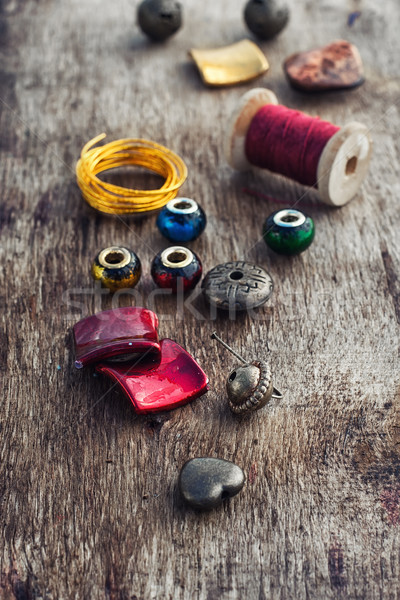 Stylish beads for needlework Stock photo © nikolaydonetsk