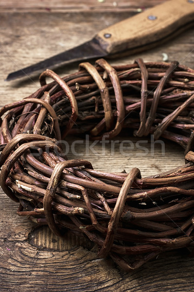 licorice rolled in coil on wooden background Stock photo © nikolaydonetsk