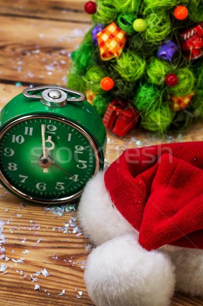 Рождества украшение рождественская елка Hat счастливым праздник Сток-фото © nikolaydonetsk