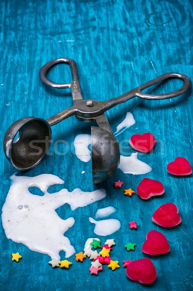 puddle of melted ice cream Stock photo © nikolaydonetsk