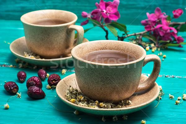 çay seramik kokulu çiçek Stok fotoğraf © nikolaydonetsk