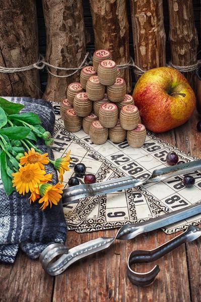 Picknick ingesteld bloem natuur Stockfoto © nikolaydonetsk