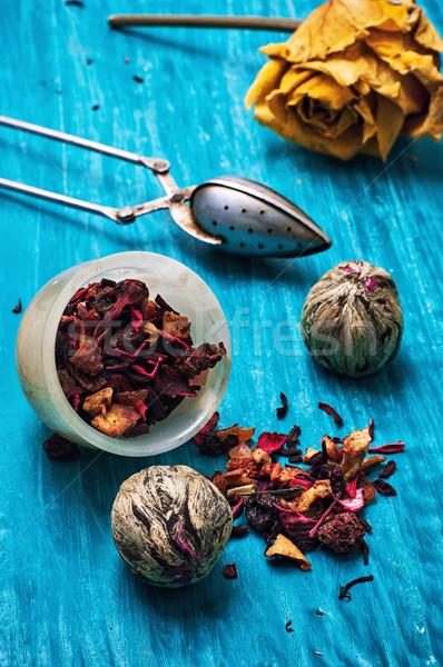 茶 いくつかの 香ばしい カスタード ストックフォト © nikolaydonetsk