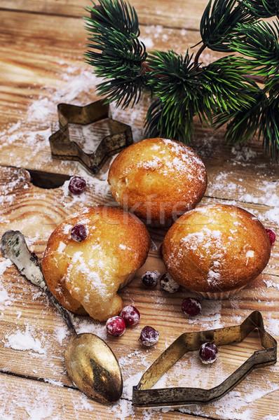Piskóta új év büfé karácsony betűk ünnep Stock fotó © nikolaydonetsk