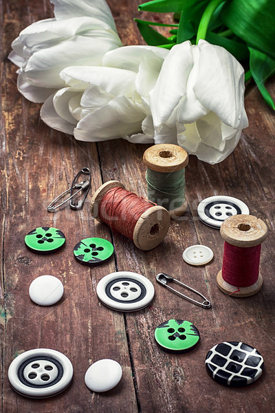 thread and buttons Stock photo © nikolaydonetsk
