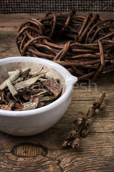 licorice rolled in coil on wooden background Stock photo © nikolaydonetsk
