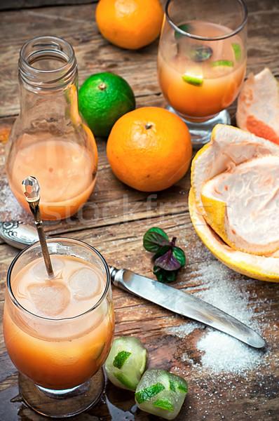 新鮮な オレンジジュース 柑橘類 ジュース オレンジ ストックフォト © nikolaydonetsk