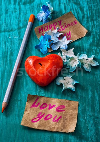 シンボリック バレンタインデー はがき 認識 愛 紙 ストックフォト © nikolaydonetsk