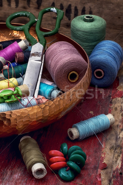 threads and other tools dressmaker  Stock photo © nikolaydonetsk