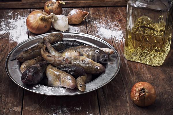 Balık tablo boğa mutfak Stok fotoğraf © nikolaydonetsk