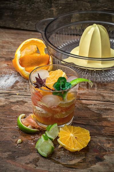 Fresco suco tropical cítrico frutas Foto stock © nikolaydonetsk