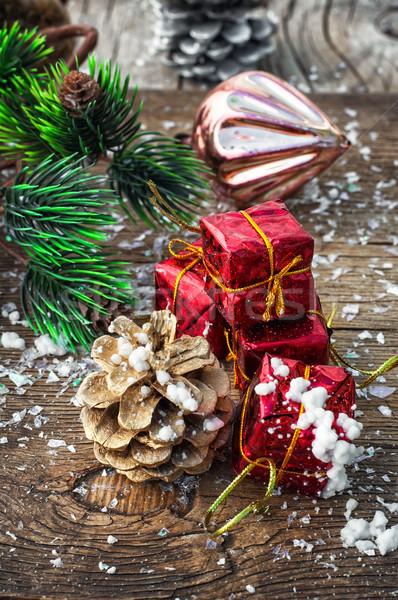 Рождества украшения игрушками снега Сток-фото © nikolaydonetsk