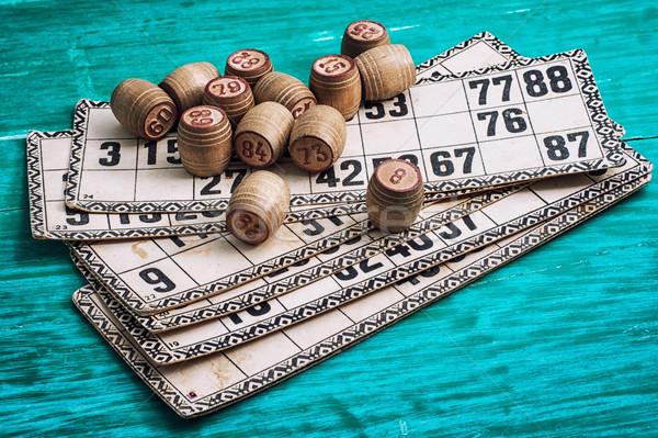 Traditioneel nalatenschap oude bordspel houten Stockfoto © nikolaydonetsk
