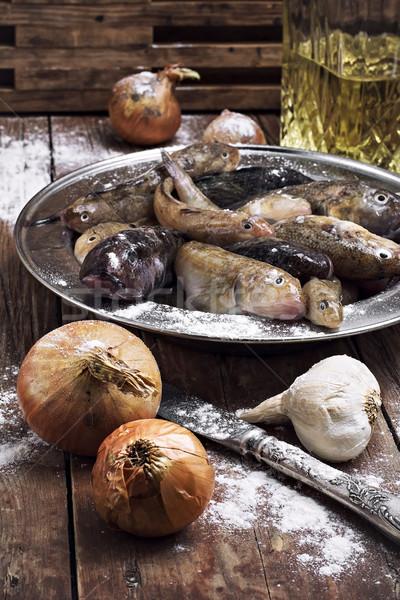 raw fish on the table cooks Stock photo © nikolaydonetsk