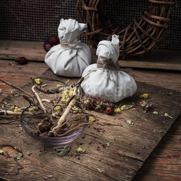 Erva secas ervas tradicional medicina Foto stock © nikolaydonetsk