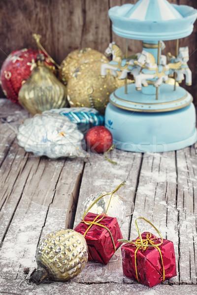 Nalatenschap christmas speelgoed vakantie retro souvenir Stockfoto © nikolaydonetsk