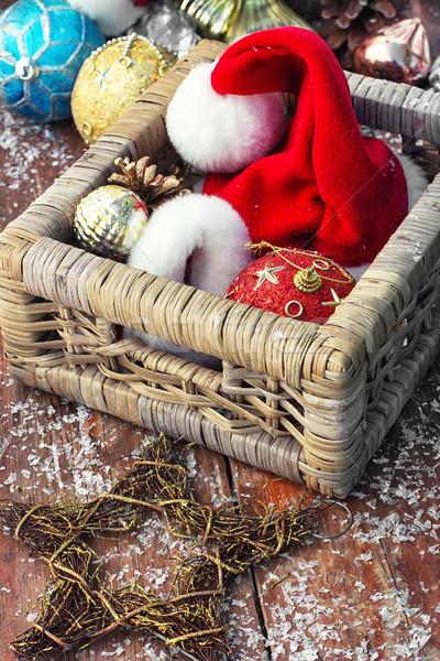 Cesta árvore de natal natal Foto stock © nikolaydonetsk