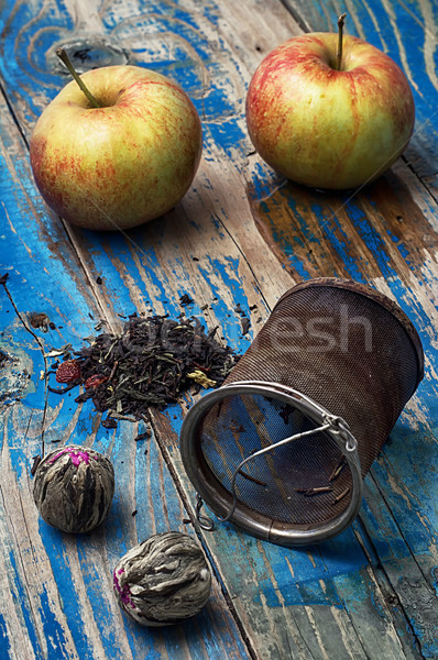 fruit custard varieties of tea Stock photo © nikolaydonetsk