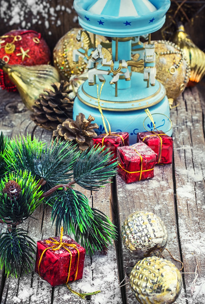 Vermächtnis Weihnachten Spielzeug Urlaub Retro Souvenir Stock foto © nikolaydonetsk