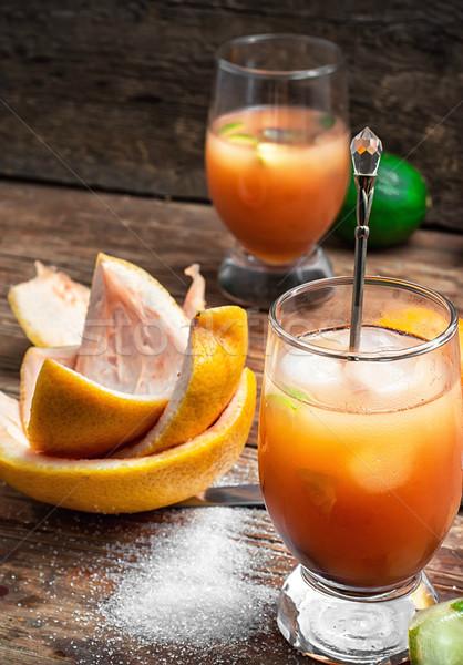 ftwo glasses resh orange juice Stock photo © nikolaydonetsk