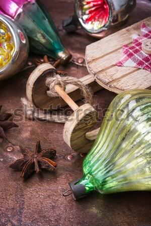Hookah on  wooden table Stock photo © nikolaydonetsk