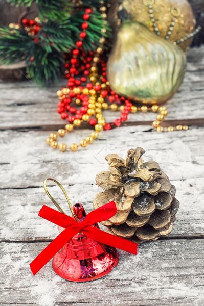 Dekorasyon yılbaşı çam Noel süsler cam Stok fotoğraf © nikolaydonetsk