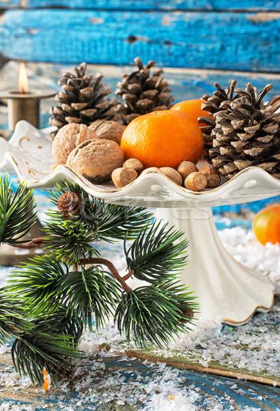 Noten speelgoed christmas decoraties licht winter Stockfoto © nikolaydonetsk