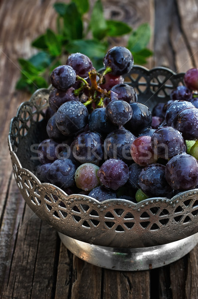 Bos druiven borstel rijp sappig vintage Stockfoto © nikolaydonetsk