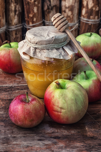 Méz csendélet aratás érett almák templom Stock fotó © nikolaydonetsk