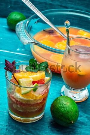 Taze meyve suyu tropikal meyve taze greyfurt Stok fotoğraf © nikolaydonetsk