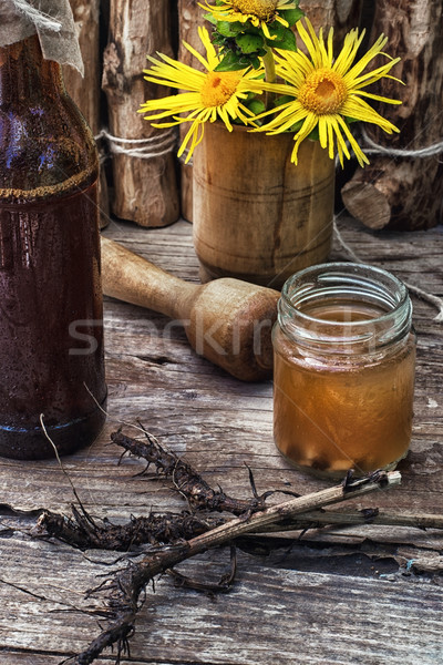 Elecampane tincture Stock photo © nikolaydonetsk