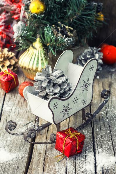 そり クリスマス 松 装飾 ストックフォト © nikolaydonetsk