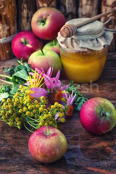 はちみつ 静物 収穫 リンゴ 教会 ストックフォト © nikolaydonetsk