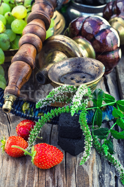 hookah with fruit flavour Stock photo © nikolaydonetsk