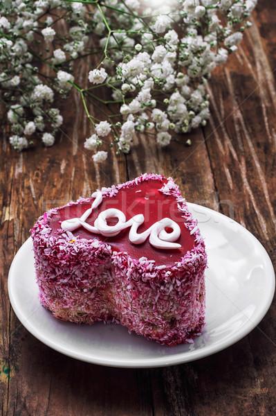 десерта праздник торт фрукты заполнение Сток-фото © nikolaydonetsk