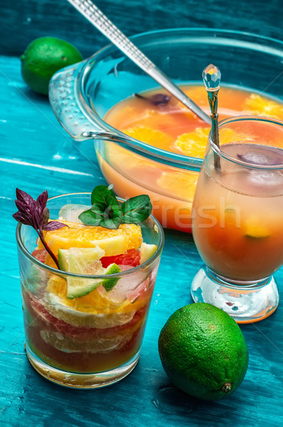 fresh tropical fruit juices Stock photo © nikolaydonetsk