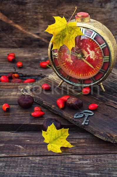 старые будильник осень стиль ретро набирать номер Сток-фото © nikolaydonetsk