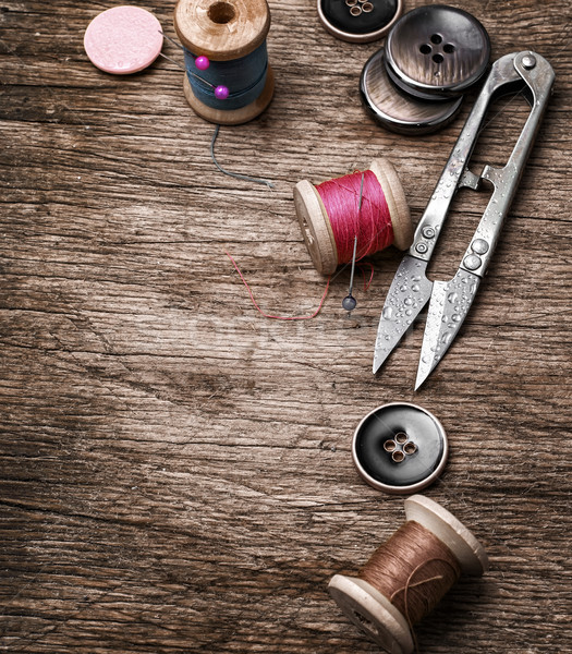 Desatualizado ferramentas botões velho textura Foto stock © nikolaydonetsk