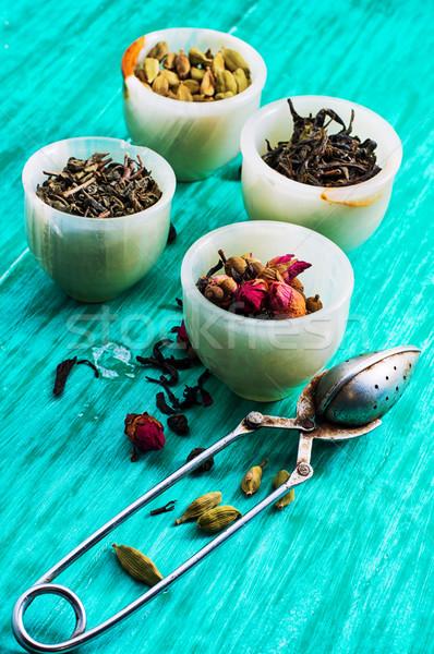 茶 葉 インド シート グルメ ストックフォト © nikolaydonetsk
