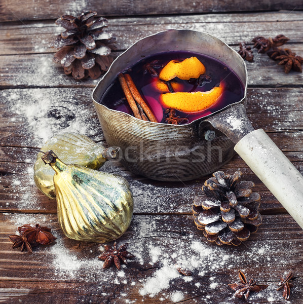 Mulled wine Christmas drink Stock photo © nikolaydonetsk