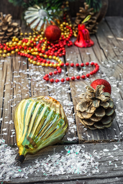Natal decorações pinho inverno bola Foto stock © nikolaydonetsk