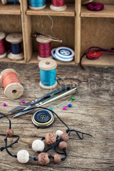 elements of needlework Stock photo © nikolaydonetsk